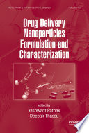 Drug Delivery Nanoparticles Formulation And Characterization Book PDF