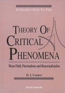 Introduction To The Theory Of Critical Phenomena: Mean Field, Fluctuations And Renormalization [Pdf/ePub] eBook