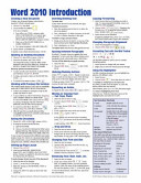 Microsoft Word 2010 Introduction Quick Reference Guide (Cheat Sheet of Instructions, Tips and Shortcuts - Laminated Card)