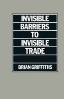 Invisible Barriers to Invisible Trade Pdf/ePub eBook