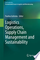 Logistics Operations  Supply Chain Management and Sustainability Book