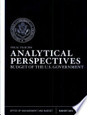 Budget Of The United States Government Analytical Perspective Fiscal Year 2014