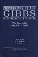 Pdf Proceedings of the Gibbs Symposium