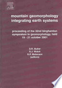 Mountain Geomorphology Integrating Earth Systems Book PDF
