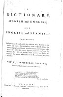 Pdf A dictionary, Spanish and English, and English and Spanish