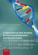 Computational Text Analysis