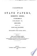 Calendar Of State Papers Domestic Series Of The Reign Of Charles Ii 1660 1661