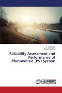 Reliability Assessment and Performance of Photovoltaic (Pv) System