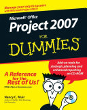 Cover of Microsoft Office Project 2007 For Dummies