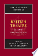 The Cambridge History of British Theatre