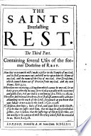The Saints Everlasting Rest     The Ninth Edition  Revised by the Author  Ms  Notes
