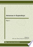 Advances in Superalloys