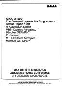 AIAA Third International Aerospace Planes Conference