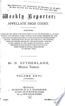 The Weekly Reporter, Appellate High Court