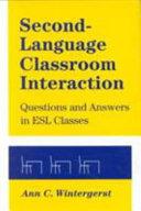 Second language Classroom Interaction