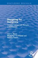 Designing For Designers Routledge Revivals
