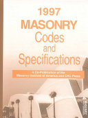 1997 Masonry Codes and Specifications