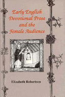 Early English Devotional Prose and the Female Audience
