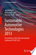 Sustainable Automotive Technologies 2013
