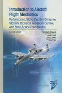 Introduction to Aircraft Flight Mechanics Book