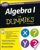 Algebra I  1 001 Practice Problems For Dummies    Free Online Practice