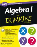 Algebra I: 1,001 Practice Problems For Dummies (+ Free Online Practice) Pdf/ePub eBook