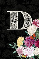 D  Carnation Flower Journal  Personalized Monogram Letter D Blank Lined Diary with Soft Carnation Interior Pages
