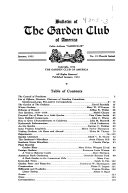 Bulletin of the Garden Club of America