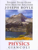 Student Study Guide and Selected Solutions Manual for Physics Book