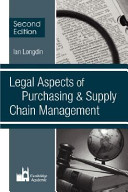 Legal Aspects of Purchasing   Supply Chain Management Book