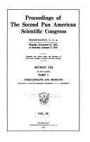 Pdf Proceedings of the second Pan American Scientific Congress, Washington, U.S.A., Monday, December 27, 1915 to Saturday, January 8, 1916 1915- 1916 v. 9