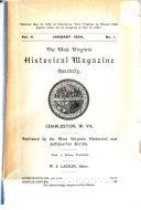 The West Virginia Historical Magazine Quarterly Book