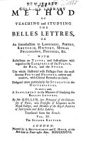 Pdf The Method of Teaching and Studying the Belles Lettres