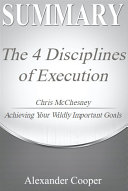 Pdf Summary of The 4 Disciplines of Execution Telecharger