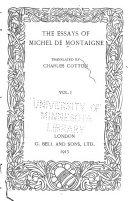 The Essays of Michel de Montaigne