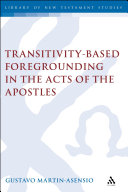 Transitivity Based Foregrounding in the Acts of the Apostles