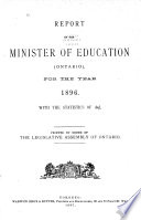 Reports of the Minister of Education