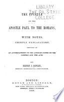 The Epistle of the Apostle Paul to the Romans