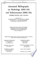 Annotated Bibliography on Hydrology (1951-54) and Sedimentation (1950-54) United States and Canada