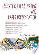 Scientific Thesis Writing and Paper Presentation Book