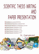 Scientific Thesis Writing and Paper Presentation
