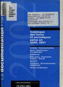 Catalogue des livres et périodiques parus en ...