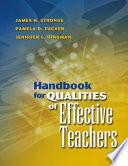 Handbook for Qualities of Effective Teachers by James H. Stronge,Pamela D. Tucker,Jennifer L. Hindman PDF