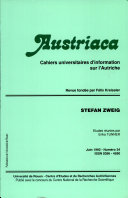 Austriaca, n°34 - Stefan Zweig