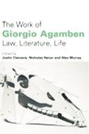 Work of Giorgio Agamben