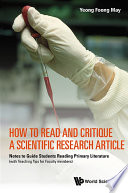 How To Read And Critique A Scientific Research Article  Notes To Guide Students Reading Primary Literature  With Teaching Tips For Faculty Members