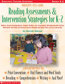 Ready-to-Use Reading Assessments and Intervention Strategies for K-2