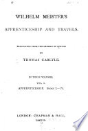 Wilhelm Meister S Apprenticeship And Travels