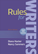 Rules for Writers with Writing about Literature  2020 APA Update