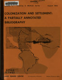 Colonization And Settlement A Partially Annotated Bibliography